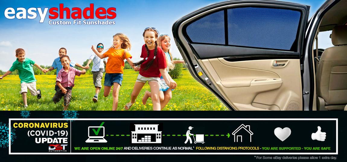 Skoda Octavia 5dr 04-13 UV CAR SHADES WINDOW SUN BLINDS PRIVACY GLASS TINT BLACK